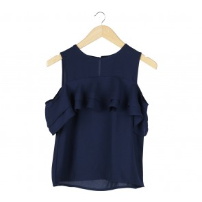 Cotton Ink Dark Blue Blouse