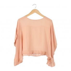 Zara Orange Loose Blouse