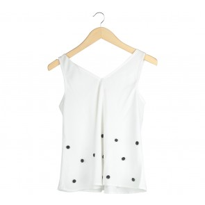 Impromptu White Pom Pom Sleeveless
