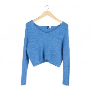 Divided Blue Sweater