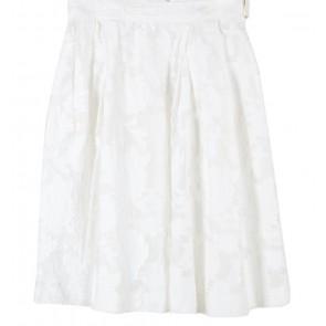 H&M White Midi Skirt