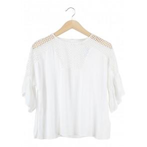 H&M White See Thrue Blouse