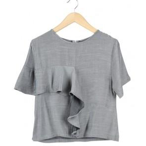 Lustre Grey Blouse