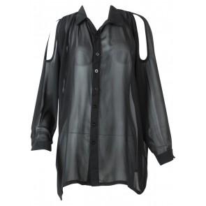 Mine Yours Everyone´s Black Off Shoulder Shirt