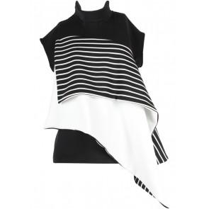 SAUL Black And White Sleeveless