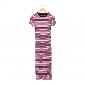 Topshop Multi Colour Striped Midi Dress