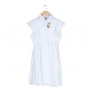 Soure White Midi Dress