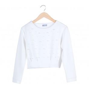 Mono Instyle White Pearl Blouse