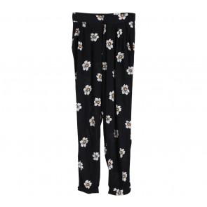 Zara Black Floral Pants