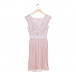 Ted Baker Cream Lace Pleated Mini Dress