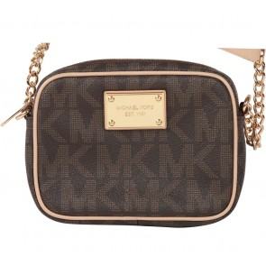 Michael Kors Brown Patterned Sling Bag