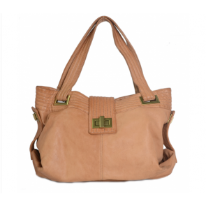 Kooba Brown in Saint-Hyachinte Leather Tote Bag