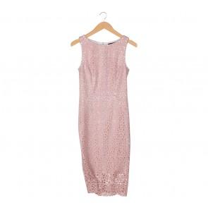 Luxe Pink Midi Dress