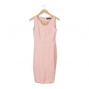 Dorothy Perkins Pink Necklace Midi Dress