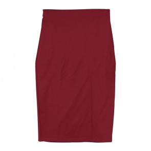 Zara Red Midi Skirt