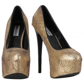 Steve Madden Gold Devona Platform Heels