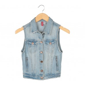 H&M Blue Denim Vest