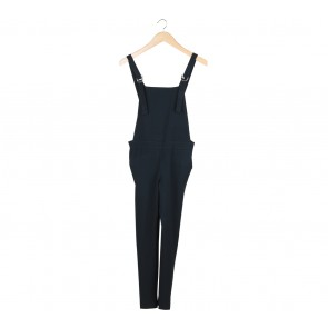 Stradivarius Dark Blue Overall Jumpsuit