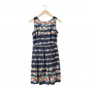 Dorothy Perkins Dark Blue Floral Mini Dress