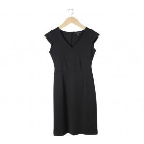 Lookboutiquestore Black Cap Sleeve Mini Dress