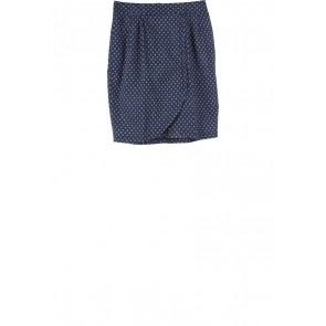 Petite Cupcake Dark Blue Patterned Skirt