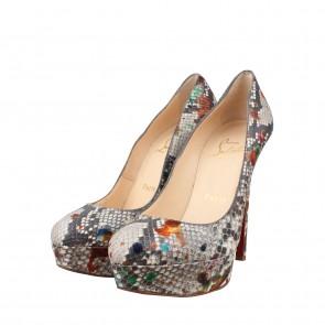 Christian Louboutin Multi Colour Bianca Carnival Python Pump Heels