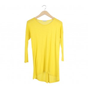 Forever 21 Yellow Sheer T-Shirt