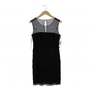 Calvin Klein Black Ruffle Mini Dress