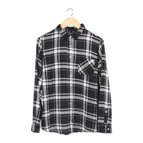 Boohoo Black And White Plaid Shirt