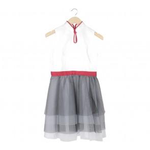 Sissae Off White Tulle Mini Dress