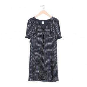 Valentino Black and White Polkadot Midi Dress