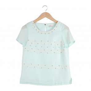 Lily Turquoise Blouse