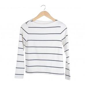 UNIQLO White Striped T-Shirt