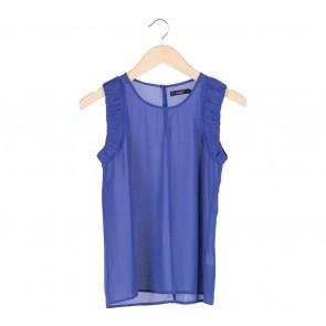 Nichii Blue Sleeveless Blouse