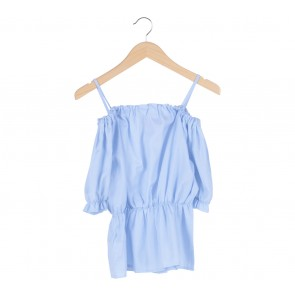 Kuki   Blue Blue White Striped Cotton Blouse