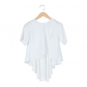 KYVA   White Asymmetric Blouse