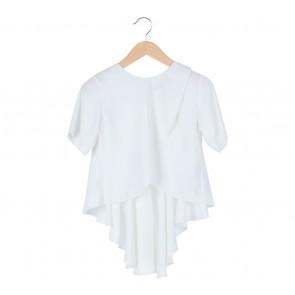 KYVA   White Asymmetric Blouse