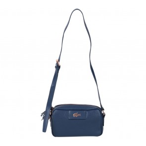 Lacoste Dark Blue Leather Sling Bag