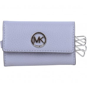 Michael Kors Purple Leather Key Wallet