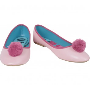 The Little Things She Needs Pink Pom-Pom Flats