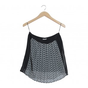 Esprit Black And White Zig-Zag Skirt