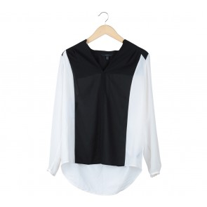 Coast Black And Off White Blouse