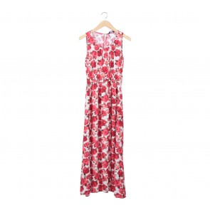 Dorothy Perkins Multi Colour Floral Sleeveless Long Dress