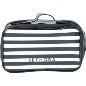 Sephora Black And White Striped Make Up Case Pouch
