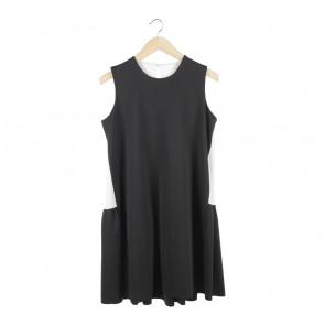 Black And Off White Mini Dress