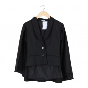 I.K.Y.K Black Cape Blazer