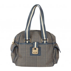 Marc Jacobs Blue And Brown Monogram Handbag