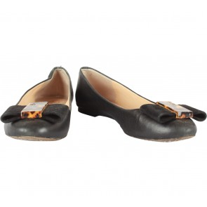 Tory Burch Black Chase Ballet Flats