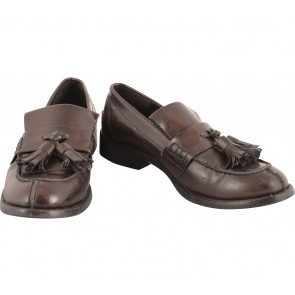Zara Brown Leather Flats