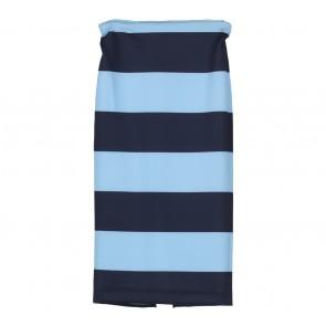 Zara Black And Blue Striped Skirt